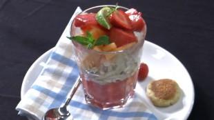 mascarpone dessert mit früchten